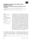 Báo cáo khoa học: Degradation of chitosans with chitinase B from Serratia marcescens Production of chito-oligosaccharides and insight into enzyme processivity
