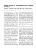 Báo cáo khoa học: The tumor suppressor HIC1 (hypermethylated in cancer 1) is O-GlcNAc glycosylated