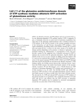 Báo cáo khoa học: Lid L11 of the glutamine amidotransferase domain of CTP synthase mediates allosteric GTP activation of glutaminase activity