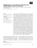 Báo cáo khoa học: Identification of a novel alternative splicing variant of RGS5 mRNA in human ocular tissues