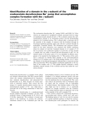 Báo cáo khoa học: Identification of a domain in the a-subunit of the oxaloacetate decarboxylase Na+ pump that accomplishes complex formation with the c-subunit