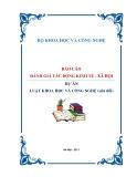 BÁO CÁO ĐÁNH GIÁ TÁC ĐỘNG KINH TẾ - XÃ HỘI - DỰ ÁN LUẬT KHOA HỌC VÀ CÔNG NGHỆ (sửa đổi)
