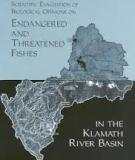 cientific Evaluation of Biological Opinions on Endangered and Threatened Fishes in the Klamath River Basin