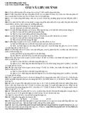 Bài tập tự luận oxi và lưu huỳnh