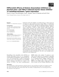 Báo cáo khoa học: Differential effects of histone deacetylase inhibitors on phorbol ester- and TGF-b1 induced murine tissue inhibitor of metalloproteinases-1 gene expression