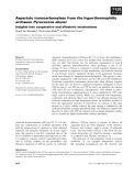 Báo cáo khoa học: Aspartate transcarbamylase from the hyperthermophilic archaeonPyrococcus abyssi Insights into cooperative and allosteric mechanisms
