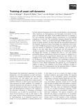 Báo cáo khoa học: Training of yeast cell dynamics