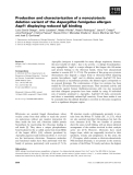 Báo cáo khoa học: Production and characterization of a noncytotoxic deletion variant of the Aspergillus fumigatus allergen Aspf1 displaying reduced IgE binding