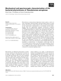 Báo cáo khoa học: Biochemical and spectroscopic characterization of the bacterial phytochrome of Pseudomonas aeruginosa