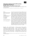 Báo cáo khoa học: Plasmodium falciparum hypoxanthine guanine phosphoribosyltransferase Stability studies on the product-activated enzyme