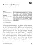 Báo cáo khoa học: Short hydrogen bonds in proteins Sathyapriya Rajagopal and Saraswathi Vishveshwara