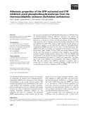 Báo cáo khoa học: Allosteric properties of the GTP activated and CTP inhibited uracil phosphoribosyltransferase from the thermoacidophilic archaeon Sulfolobus solfataricus