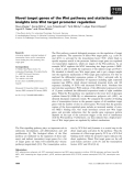 Báo cáo khoa học: Novel target genes of the Wnt pathway and statistical insights into Wnt target promoter regulation