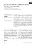 Báo cáo khoa học: Hyperthermal stability of neuroglobin and cytoglobin