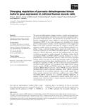 Báo cáo khoa học: Diverging regulation of pyruvate dehydrogenase kinase isoform gene expression in cultured human muscle cells