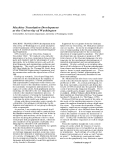 "Báo cáo khoa học: ""Machine Translation Development at the University of Washington"""