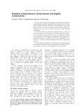 """Báo cáo khoa học: """"Problems of Equivalence in Some German and English Constructions"""""""