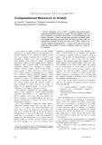 "Báo cáo khoa học: ""Computational Research in Arabic"""