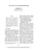 "Báo cáo khoa học: ""The Creation of a Corpus of English Metalanguage"""