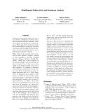 "Báo cáo khoa học: ""Multilingual Subjectivity and Sentiment Analysis"""