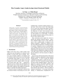 "Báo cáo khoa học: ""Fine Granular Aspect Analysis using Latent Structural Models"""