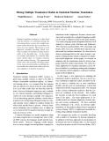 "Báo cáo khoa học: ""Mixing Multiple Translation Models in Statistical Machine Translation"""