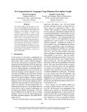 "Báo cáo khoa học: ""Text Segmentation by Language Using Minimum Description Length"""