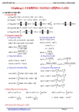 Ôn tập Phương trình lượng giác