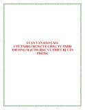 Báo cáo thực tập kế toán tại công ty TNHH Thương Mại Tin Học Và Thiết Bị Văn Phòng