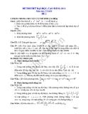 Đề thi thử đại học 2013 Môn Toán khối B Đề 2
