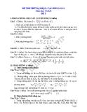 Đề thi thử đại học 2013 Môn Toán khối B Đề 5