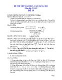 Đề thi thử đại học 2013 Môn Toán khối B Đề 19