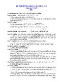 Đề thi thử đại học 2013 Môn Toán khối B Đề 1