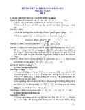 Đề thi thử đại học 2013 Môn Toán khối B Đề 8