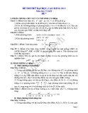 Đề thi thử đại học 2013 Môn Toán khối B Đề 7