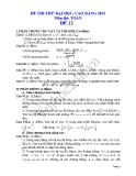 Đề thi thử đại học 2013 Môn Toán khối B Đề 12