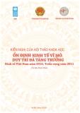 Kiến nghị của hội thảo khoa học ổn định kinh tế vĩ mô: Duy trì đà tăng trưởng kinh tế Việt Nam năm 2010, Triển vọng năm 2011