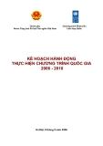 Kế hoạch hành động thực hiện chương trình quốc gia 2006 - 2010