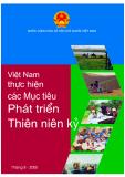 Việt Nam thực hiện các Mục tiêu Phát triển Thiên nhiên kỷ