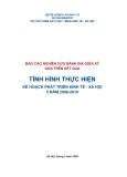 TÌNH HÌNH THỰC HIỆN KẾ HOẠCH PHÁT TRIỂN KINH TẾ - XÃ HỘI 5 NĂM 2006-2010