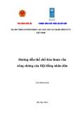 Dự án tăng cường năng lực của các cơ quan dân cư ở Việt Nam - Hướng dẫn thể chế hóa hoạt động tham vấn công chúng của Hội đồng nhân dân