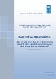BÁO CHÍ VÀ THAM NHŨNG: Báo chí Việt Nam đưa tin về tham nhũng như thế nào? Làm thế nào để nâng cao chất lượng đưa tin của báo chí?