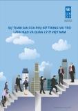 Báo cáo khoa học ' Sự tham gia của phụ nữ trong vai trò lãnh đạo và quản lý ở Việt Nam'
