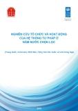 Nghiên cứu tổ chức và hoạt động của hệ thống tư pháp ở năm nước chọn lọc : Trung Quốc, Indonesia, Nhật Bản, Hàn Quốc, Liên Bang Nga
