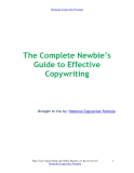 The Complete Newbie's  Guide to Effective Copywriting