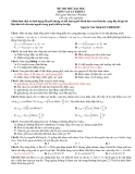 Đề Thi Thử Đại Học Vật Lý 2013 - Đề 1
