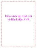 Giáo trình hướng dẫn lập trình với vi điều khiển AVR