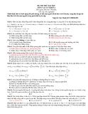 Đề thi thử đại học môn Lý khối A (có đáp án)