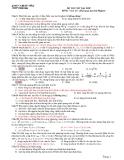Đề Thi Đại Học Khối A, A1  Vật Lý 2013 - Phần 7 - Đề 3