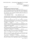 Đề Thi Đại Học Khối A, A1  Vật Lý 2013 - Phần 7 - Đề 12